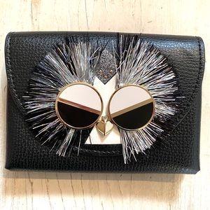 🦉NWOT KATE SPADE Cute Owl Appliqué ID Wallet 🦉